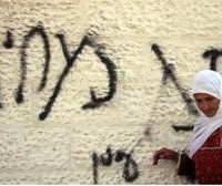 "Graffiti reads ""Price Tag,"" a reference to the fact that these attacks are meant to show Israel's government that any concessions to the Palestinians will be costly on the domestic front."