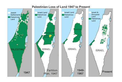 Maps of 'Palestine' from 1947